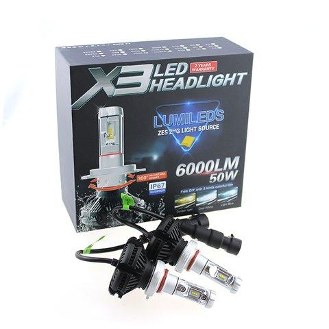 Набор светодиодного головного света UP-X3HL-H11W-6000LM (H11, 6000 лм, холодный белый) - Просмотр 3