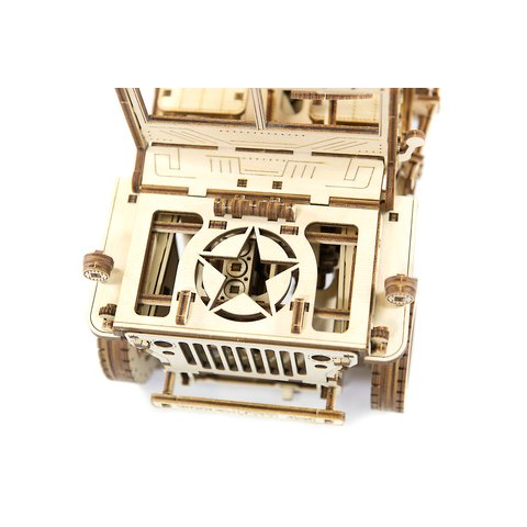 Wooden mechanical 3D Puzzle Wooden.City 4x4 Vehicle - /*Photo|product*/