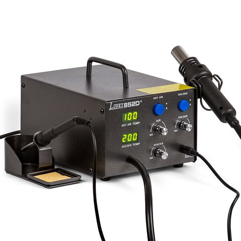 Hot Air Soldering Station Lukey 852D+ with Soldering Iron - Preview 2